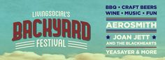On Saturday, July 13th, LivingSocial is hosting their first ever Backyard Festival at Randall's Island Park. This event features a full day of music, food, drinks, and entertainment, including Aerosmith.