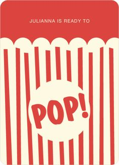 Movie Night and Popcorn Party Invitations by Paper Culture