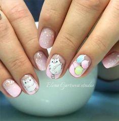 nail art designs 2019 nail designs for short nails easy full nail stickers best nail stickers best nail stickers 2019 Cat Nails, Pink Nails, Cat Nail Designs, Manicure, Animal Nail Art, Kawaii Nails, Halloween Nail Art, Super Nails, Nagel Gel