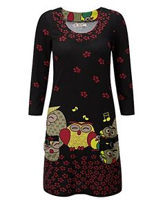 Joe Browns Singing Owl Jumper: Probably wouldn't wear, but so cool!