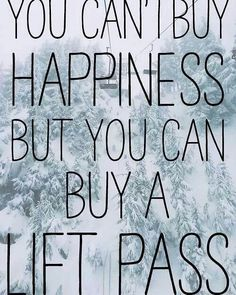 #thursdaythoughts in full force with these wise words! Buy your season pass for next winter now! Hit the slopes for free the rest of this season and get the guaranteed best price! Link is in bio