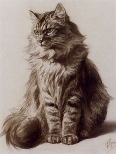 "@1CatShepherd You!! ""@TheGreatCat1: Ferdinand Oger (French, 1872-1929) - Study of a Tabby Cat #catsinart #MuseumCats """