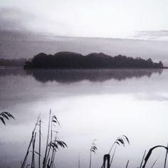 Bild Steg, Schwarzweißfoto, Acrylglas Vorderansicht