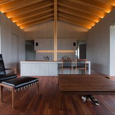 Abode of Jokei is a minimalist house located in Kagoshima, Japan, designed by Matsuyama Architects and Associates.