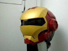 IRON MAN MK VI Custom Motorcycle helmet (with L.E.D.s and sound)