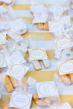 Baking 'Number' Cookies & bagging for guests to find their tables - Seating - delicious.divine.design: DIY
