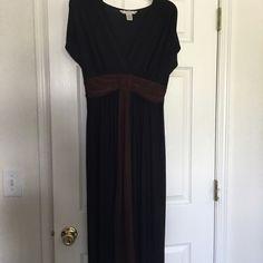 LAST CALL ‼️Black and Brown Dress ‼️ Clearance ‼️ Black and Brown Dress - so comfy!!! Pre-loved Dresses Maxi