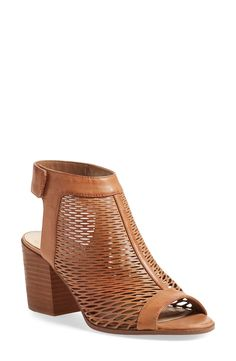 Vince Camuto 'Lavette' Perforated Peep Toe Bootie (Women)