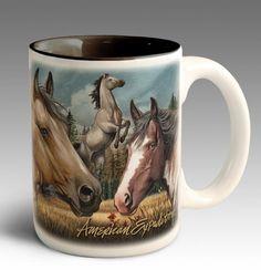 American Mustang Collage Series 15oz Stoneware Coffee Mug For $11.99