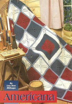 Crochet Pattern for an AMERICANA AFGHAN