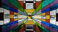 Wormhole of Color Stained Glass Panel Signed Numbered ≈huge 3 Foot Panel   eBay