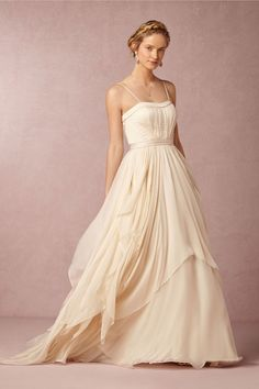 Cascada Wedding Gown and Petticoat from @BHLDN