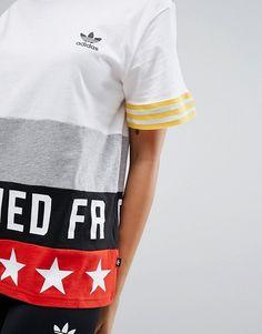 e4b96f54 adidas Originals X Rita Ora - Banned From Normal - T-shirt at asos.com