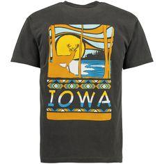 Iowa Hawkeyes Scenic Comfort Colors T-Shirt - Black