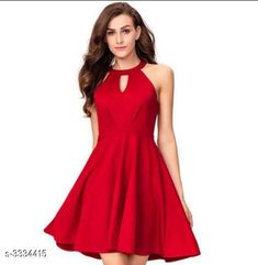 Checkout this latest Dresses Product Name: *Women's Solid Red Cotton Blend Dress* Sizes: S, M, L Easy Returns Available In Case Of Any Issue   Catalog Rating: ★4.2 (280)  Catalog Name: Agrima Cotton Blend Women's Dresses Vol 4 CatalogID_461565 C79-SC1025 Code: 684-3334415-9922
