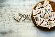 Rustic wedding favors hearts magnets cottage by HandyHappyHearts