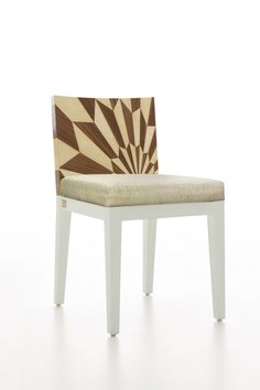 TECTONIC SILENCE Dining Chair / Wood Marquetry | Rue Monsieur Paris