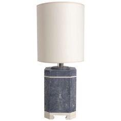 Shagreen Lamp in the manner of Karl Springer 1