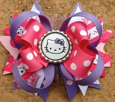 HELLO KITTY Hair Bow Boutique Style Princes by PolkaDotzBowtique, $9.50
