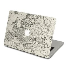 13 inch macbook decal globe, world map