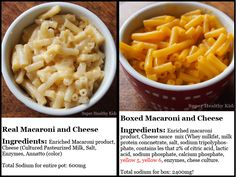 Make them Healthy Mac & Cheese.Compare real macaroni and cheese with boxed- Super Healthy Kids Super Healthy Kids, Healthy Meals For Kids, Kids Meals, Healthy Snacks, Healthy Eating, Healthy Recipes, Healthy Sides, Quick Mac And Cheese, Mac And Cheese Homemade