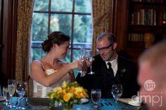Julia & Scott: Mini wedding celebration -- Toasting each other