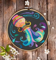 This is modern cross-stitch pattern of Aquarius Zodiac for instant download. You will get 7-pages PDF file, which includes: - main picture for your reference; - colorful scheme for cross-stitch; - list of DMC thread colors (instruction and key section); - list of calculated thread length The size of the picture is 19.78 x 19.96 cm | 7.79 x 7.86 inches, 130 X 130 stitches on Aida 14 count It is a digital pattern and will be available to download when the payment will be received. If you ha...