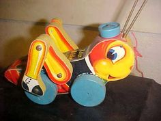 Vintage Old Antique Fisher Price Pull Toy Kriss Kricket 678 Made in 1955*