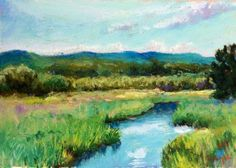 Summer Stream, painting by artist Takeyce Walter