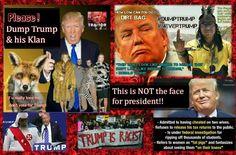 Dump Trump and his Klan tweet sheet