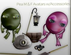 Free Second Life Pea Avatar. You will receive the full avatar and some accessories to go along with it (backpack, binoculars, lantern, miner helmet