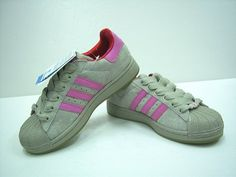 WOMEN SUPERSTAR II ADIDAS SHOES GREY PINK