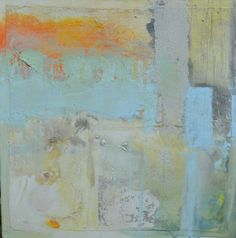 Abstract Landscape Square Painting Canvas UK by JillianRobinson