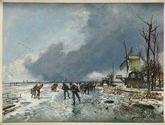 Jongkind Wintergezicht met schaatsers 1864 - Johan Barthold Jongkind - Wikipedia