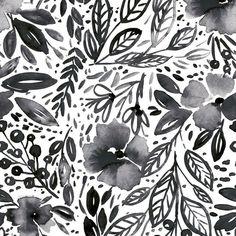 Clara Jean April Showers Peel and Stick Wallpaper - Sample / Black
