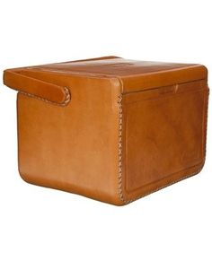 the only way to go camping, a leather cooler