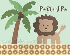 Lion in the Jungle  Nursery or children's room by LullabyArt, $12.00