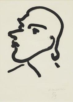 Henri Matisse, Nadia de profil, 1948,  Aquatint on Marais paper