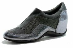 Edgy, Stylish & Elegant Shoes For Women. DKNY Women's Wedge Gunmetal Sneakers Pacific 2