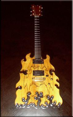 Full shot of previously pinned Vesuvius  custom guitar