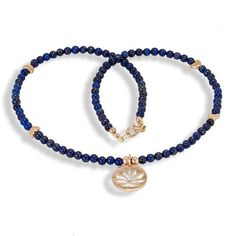 Handmade Gemstone Necklace Lapis Lazuli - Anthos Crafts - 1