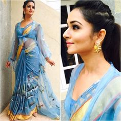 Planning to shop silk half sarees? Here are 20 colorful half saree designs and how to style it with utmost elegance. New Saree Blouse Designs, Choli Blouse Design, Half Saree Designs, Fancy Blouse Designs, Trendy Sarees, Stylish Sarees, Latest Designer Sarees, Indian Designer Outfits, New Dress Collection