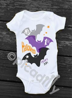 A personal favorite from my Etsy shop https://www.etsy.com/listing/203866949/my-first-halloween-onesie-personalized