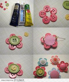 Cute button hairbows
