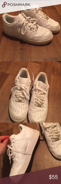 Nike Air Force 1's White Nike Air Force 1's. women's size 9. Only worn a couple of time. Basically brand new. A couple of scuff marks that wipe off with a damp towel. Nike Shoes Sneakers
