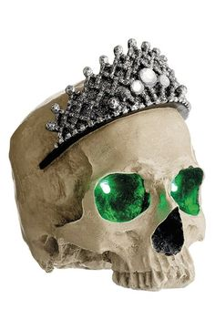 This glammed up skull is the perfect addition to any diva's decor.