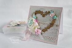 Odskocznia vairatki: Róże i turkusy - ślubnie dla Craftmanii Wedding Cards, Decorative Boxes, Home Decor, Wedding Ecards, Decoration Home, Room Decor, Home Interior Design, Decorative Storage Boxes, Wedding Invitation Cards
