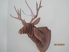 Laser Cut Wood Deer Head Wall Trophy by TrueAmbition99 on Etsy