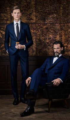 from Scabal Season's Book Autumn Winter Formal Attire For Men, Formal Suits, Bespoke Tailoring, Miami Fashion, Mens Fashion Suits, Wedding Suits, Winter Collection, Shades Of Blue, Role Models