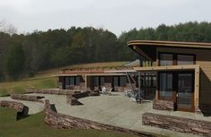 Wow! Now that's an earthship I could live in! Nice and modern.  Kaplan Thompson Architects :: Beautiful, Sustainable, Attainable :: Residential Green Design in Maine :: Projects :: Earthship Farmstead